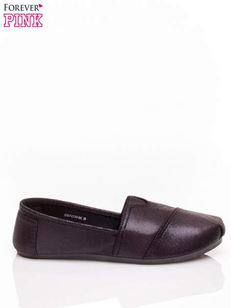 Czarne buty sliponki z efektem skóry jaszczurki Halo                                  zdj.                                  2