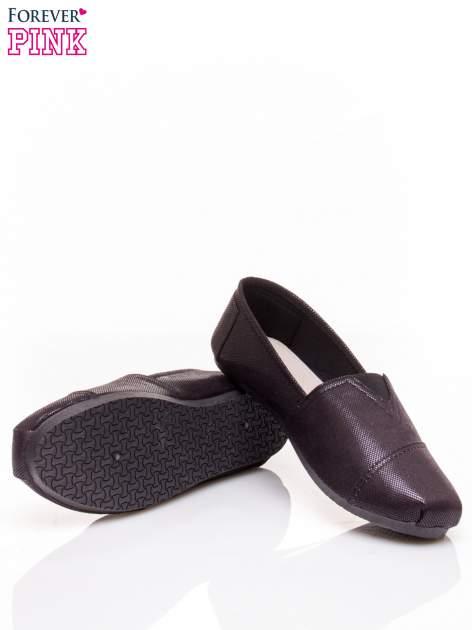Czarne buty sliponki z efektem skóry jaszczurki Halo                                  zdj.                                  5