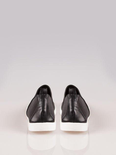 Czarne buty slippers Dakota na traktorowej podeszwie                                  zdj.                                  3