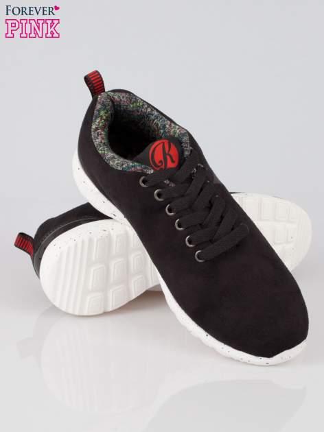 Czarne buty sportowe faux suede Hollywood z zamszu                                  zdj.                                  4