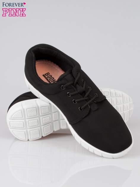 Czarne buty sportowe textile Superior na podeszwie flex                                  zdj.                                  4