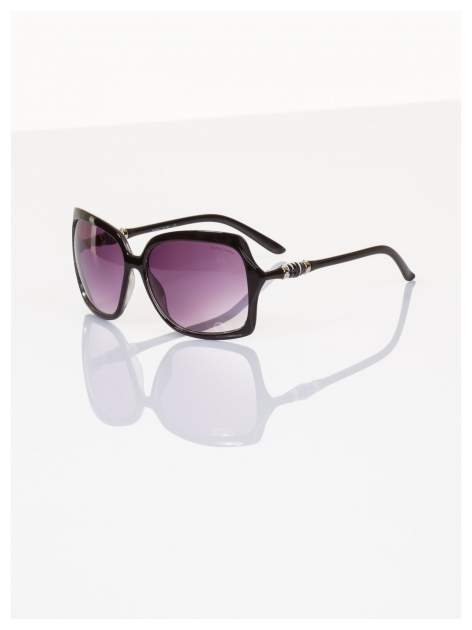 Czarne duże okulary blogerek MUCHY N.Y.STYLE filtry UV,normy CE