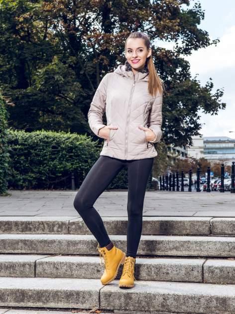 Czarne elastyczne legginsy damskie z bawełny                                  zdj.                                  7