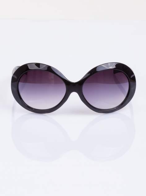 """Czarne eleganckie okulary przeciwsłoneczne """"MUCHY"""""""