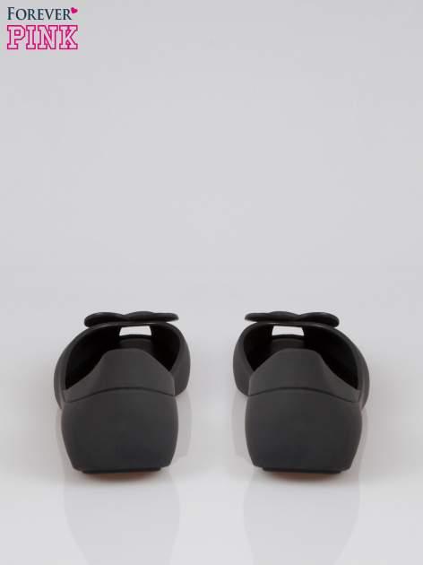 Czarne gumowe baleriny meliski z sercem                                  zdj.                                  3