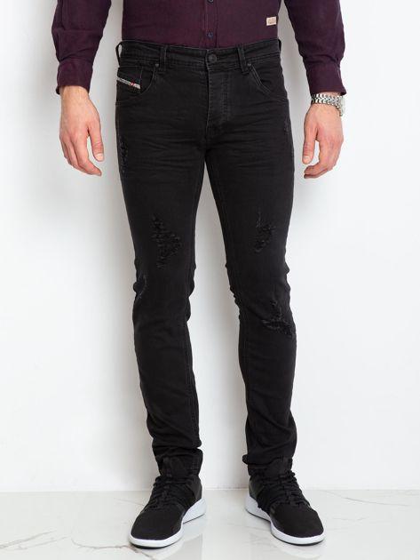 Czarne jeansy męskie Impression                              zdj.                              1
