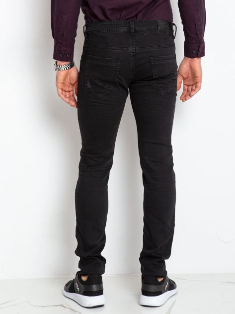 Czarne jeansy męskie Impression                              zdj.                              2