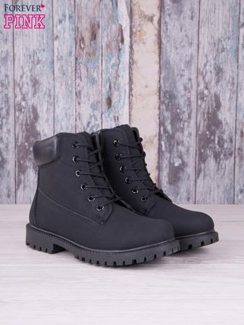 Czarne jednolite buty trekkingowe Westie damskie traperki ocieplane                                  zdj.                                  3
