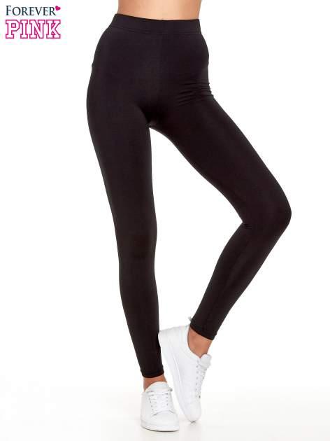Czarne legginsy basic z lekkim ociepleniem                                  zdj.                                  1