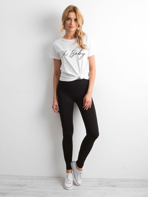 Czarne legginsy damskie basic                              zdj.                              4