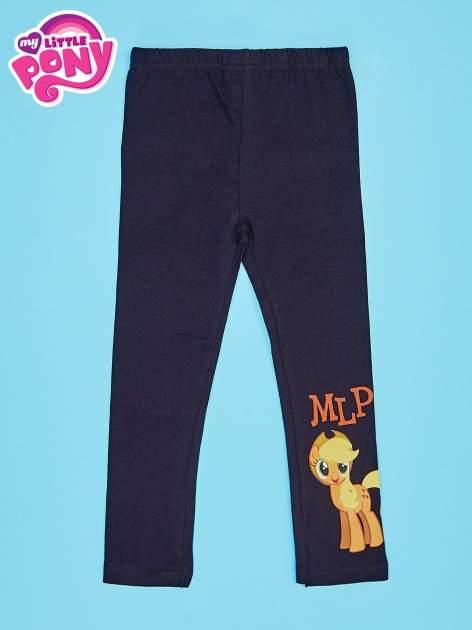 Czarne legginsy dla dziewczynki motyw MY LITTLE PONY                                   zdj.                                  1