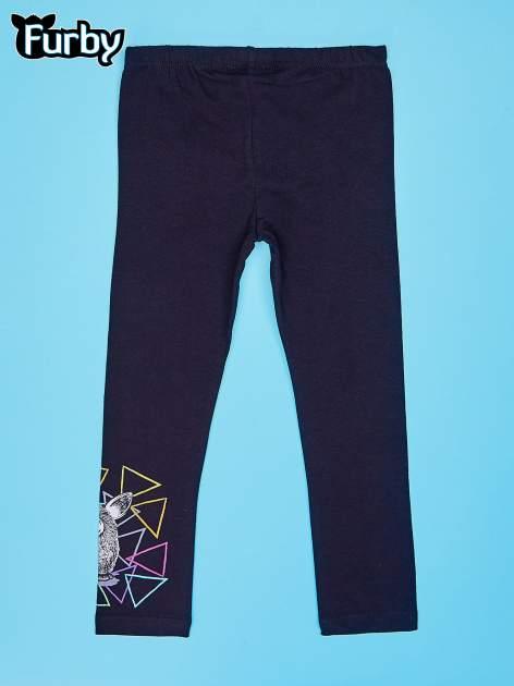 Czarne legginsy dla dziewczynki z motywem FURBY                                  zdj.                                  2