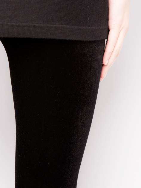 Czarne legginsy z weluru                                  zdj.                                  3