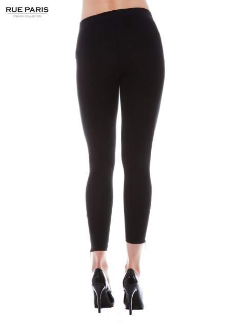 Czarne legginsy ze złotym suwakiem na dole                                  zdj.                                  3