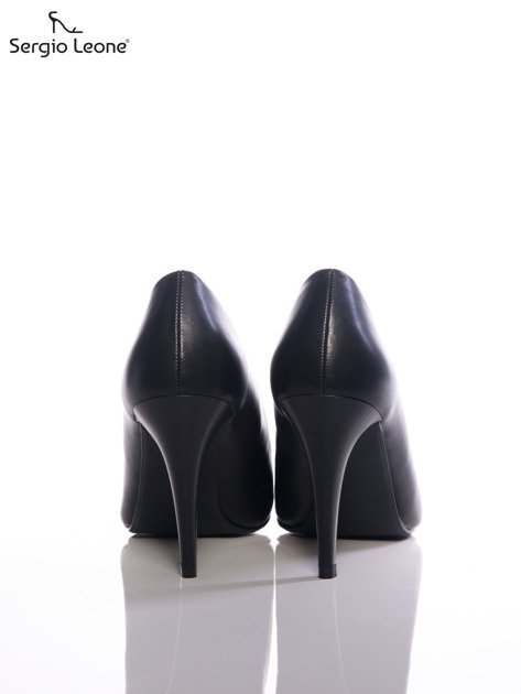 Czarne matowe szpilki Sergio Leone                              zdj.                              3