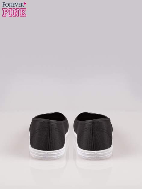 Czarne miękkie buty slip on                                  zdj.                                  3