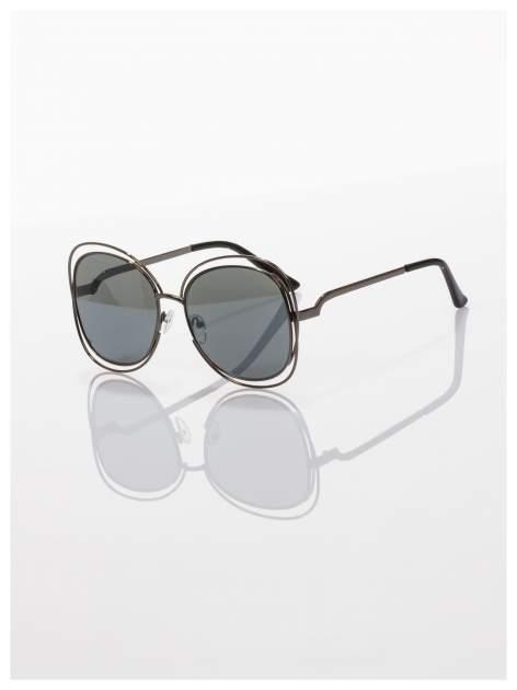 Czarne okulary FASHION wyjątkowe stylizowane na Chloe                                  zdj.                                  1
