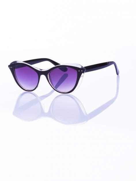 """Czarne okulary przeciwsłoneczne w stylu """"KOCIE OCZY""""                                   zdj.                                  2"""