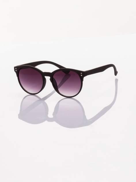 Czarne okulary przeciwsłoneczne w stylu vintage                                  zdj.                                  1
