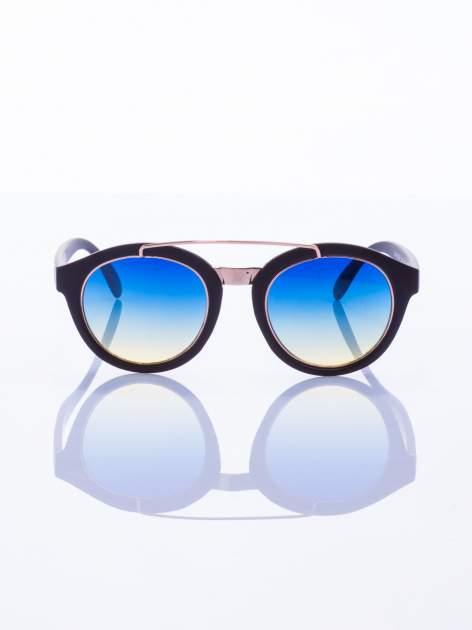 Czarne okulary przeciwsłoneczne w stylu vintage retro                                  zdj.                                  4