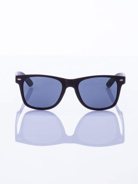 Czarne okulary przeciwsłoneczne z POLARYZACJĄ typu WAYFARER                                  zdj.                                  2