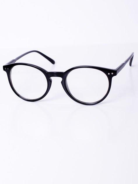Czarne owalne okulary zerówki potterki