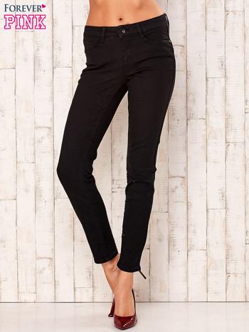 Czarne proste spodnie