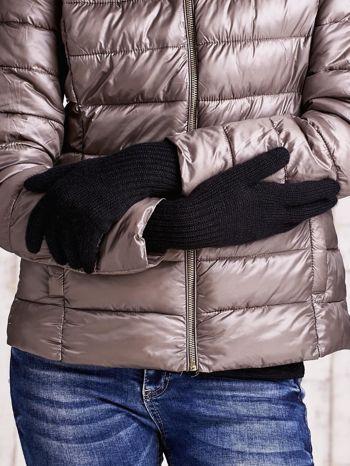 Czarne rękawiczki z długim ściągaczem                                  zdj.                                  2