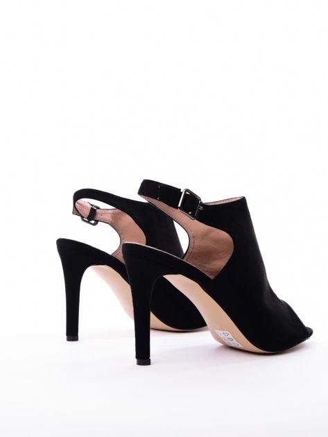 Czarne sandały SABATINA z głęboko wyciętą cholewką                               zdj.                              4