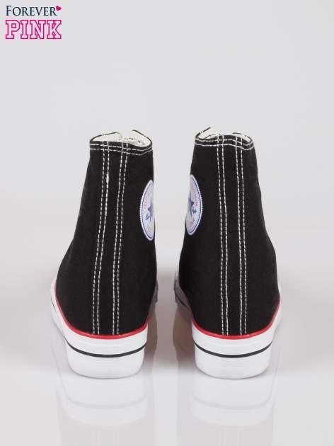 Czarne sneakersy trampki damskie na koturnie Liliana                                  zdj.                                  3