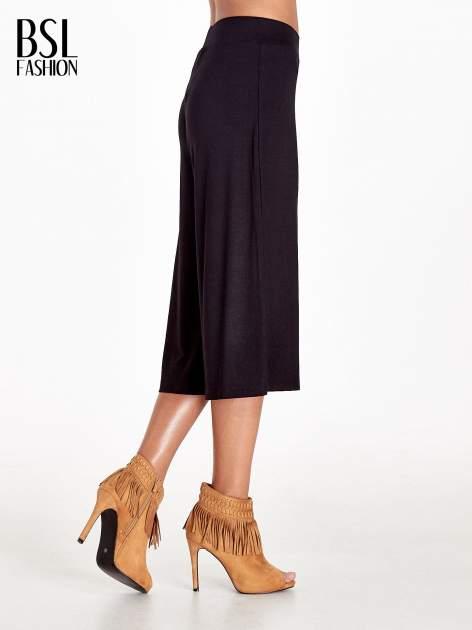 Czarne spódnicospodnie typu culottes                                  zdj.                                  3