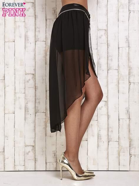 Czarne spódnicospodnie z tiulowym trenem                                  zdj.                                  3