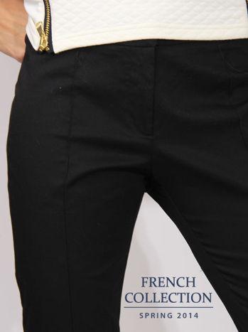Czarne spodnie cygaretki w kant                                   zdj.                                  3