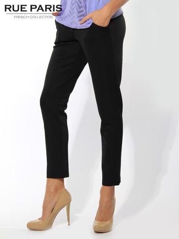 Czarne spodnie cygaretki z kieszeniami                                  zdj.                                  2