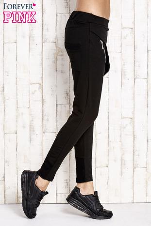 Czarne spodnie dresowe z suwakami                                  zdj.                                  2
