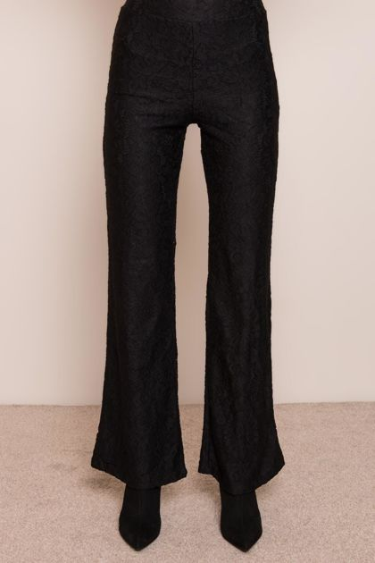 Czarne spodnie flare BSL