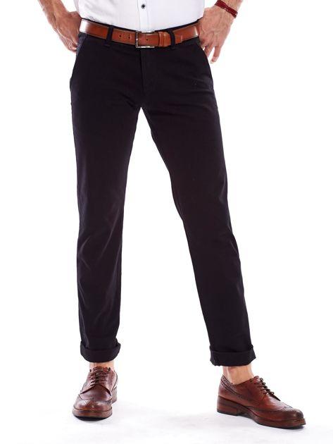 Czarne spodnie męskie regular                               zdj.                              1