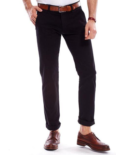 Czarne spodnie męskie regular                               zdj.                              7
