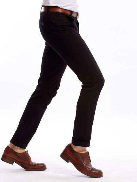 Czarne spodnie męskie slim fit                              zdj.                              3