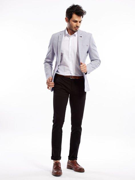 Czarne spodnie męskie slim fit                              zdj.                              11