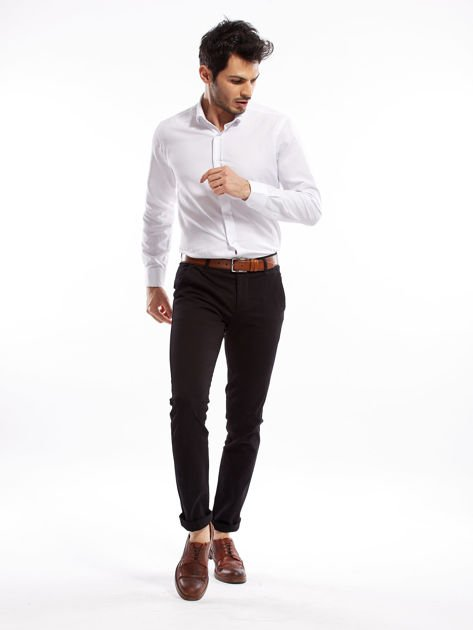 Czarne spodnie męskie slim fit                              zdj.                              15