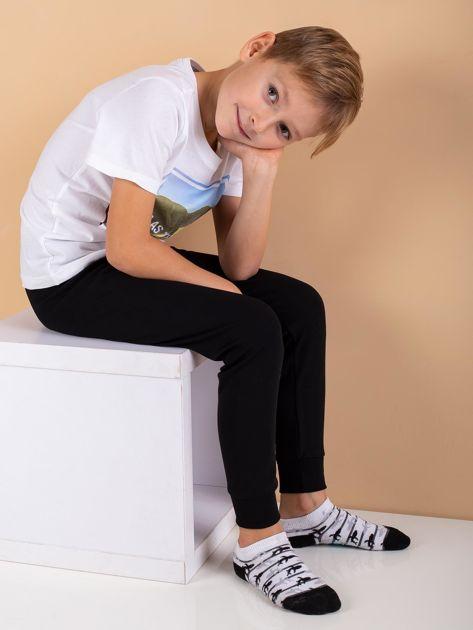 Czarne spodnie termoaktywne dla chłopca