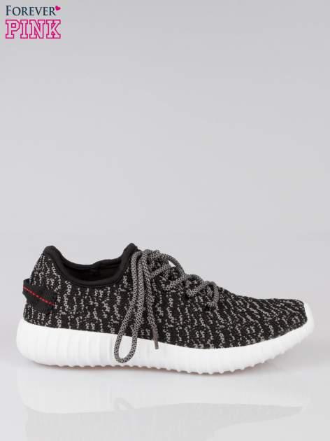 Czarne sportowe buty z szarym nadrukiem