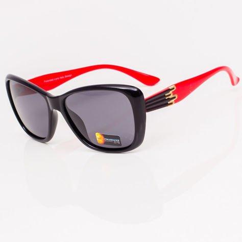 Czarno-Czerwone Damskie Okulary POLARYZACYJNE                               zdj.                              4