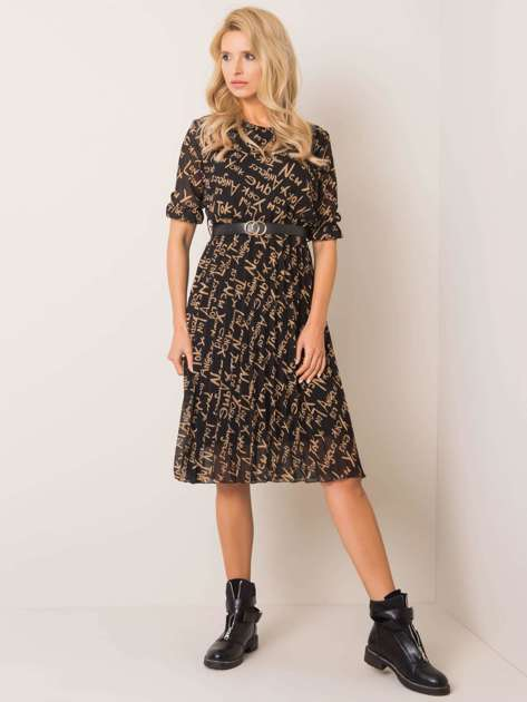Czarno-beżowa sukienka Losanna