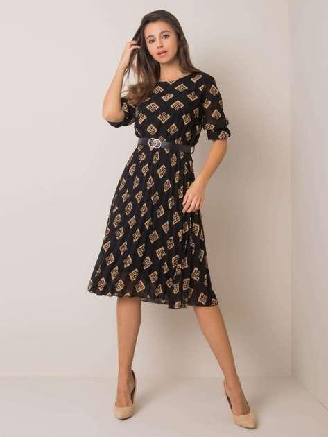 Czarno-beżowa sukienka Pammy