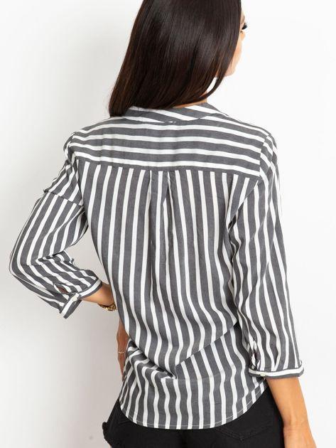 Czarno-biała bluzka Sienna                              zdj.                              2