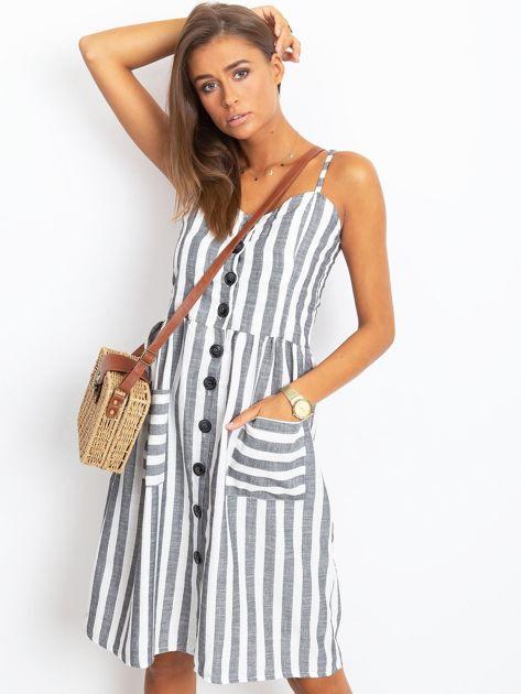 Czarno-biała sukienka Sartorial                              zdj.                              1