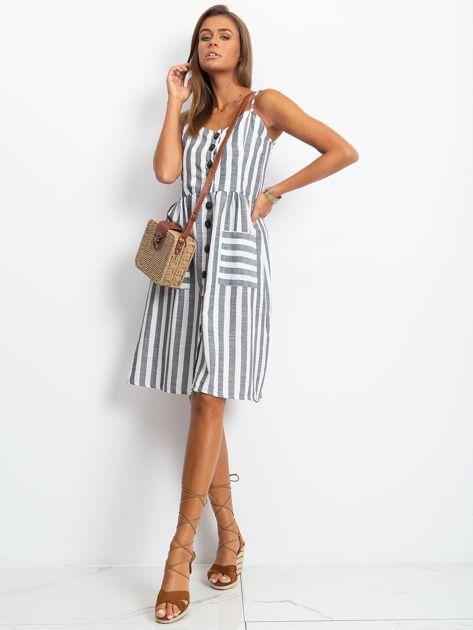 Czarno-biała sukienka Sartorial                              zdj.                              4