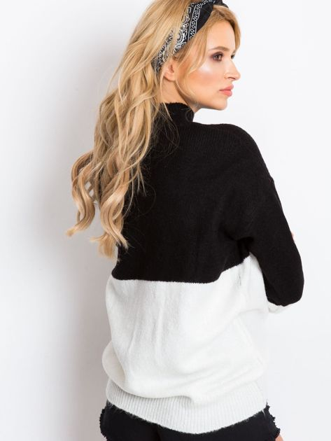 Czarno-biały sweter Taylor                              zdj.                              2